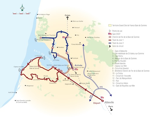 Carte baie de somme mini